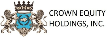 Crown Equity Holdings, Inc. (OTC BB: CRWE) CEO Interview
